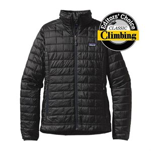LADIES PATAGONIA NANO PUFF JACKET BLACK
