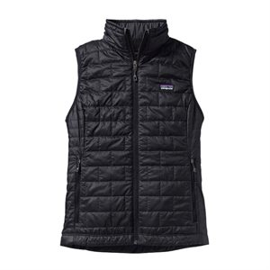LADIES PATAGONIA NANO PUFF VEST BLACK (S)