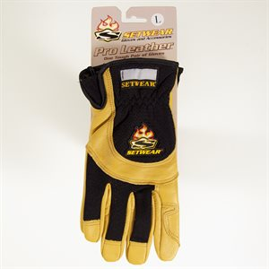SETWEAR PRO LEATHER GLOVES TAN